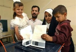 voting is an Iraqi family affair